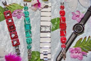 Epoxidharz-Uhren Sortiment, Vertrieb Beinhardt-Uhren,  Fachhandel modern