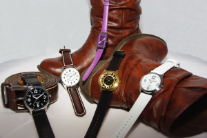 Kollektion Leder, Armbanduhr klassisch, Beinhardt-Uhren Ziffernblatt